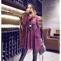 Venta al por mayor precio! 2016 del otoño del resorte embarazada mujer de manga larga elegante encaje de enfermería vestido lactancia vestido de maternidad camisas de algodón
