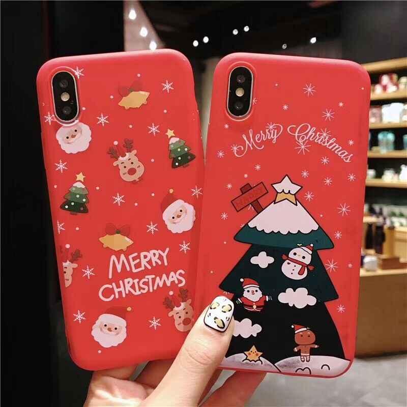 BEYOUR عيد ميلاد سعيد الساخن حقيبة لهاتف أي فون XS XR XS Max X 8 7 6 6S زائد لينة بولي TPU لطيف الهاتف الغطاء الخلفي الحالات هدايا السنة الجديدة