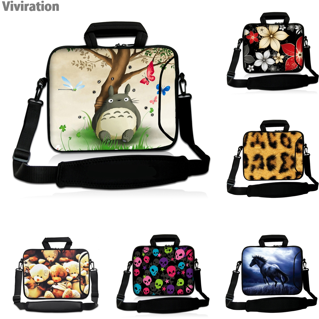 Viviration Shockproof Messenger Carry Bag Handle Case Womens Briefcase For 10 12 13 14 15 17 Inch Acer Sony Toshiba Macbook Asus