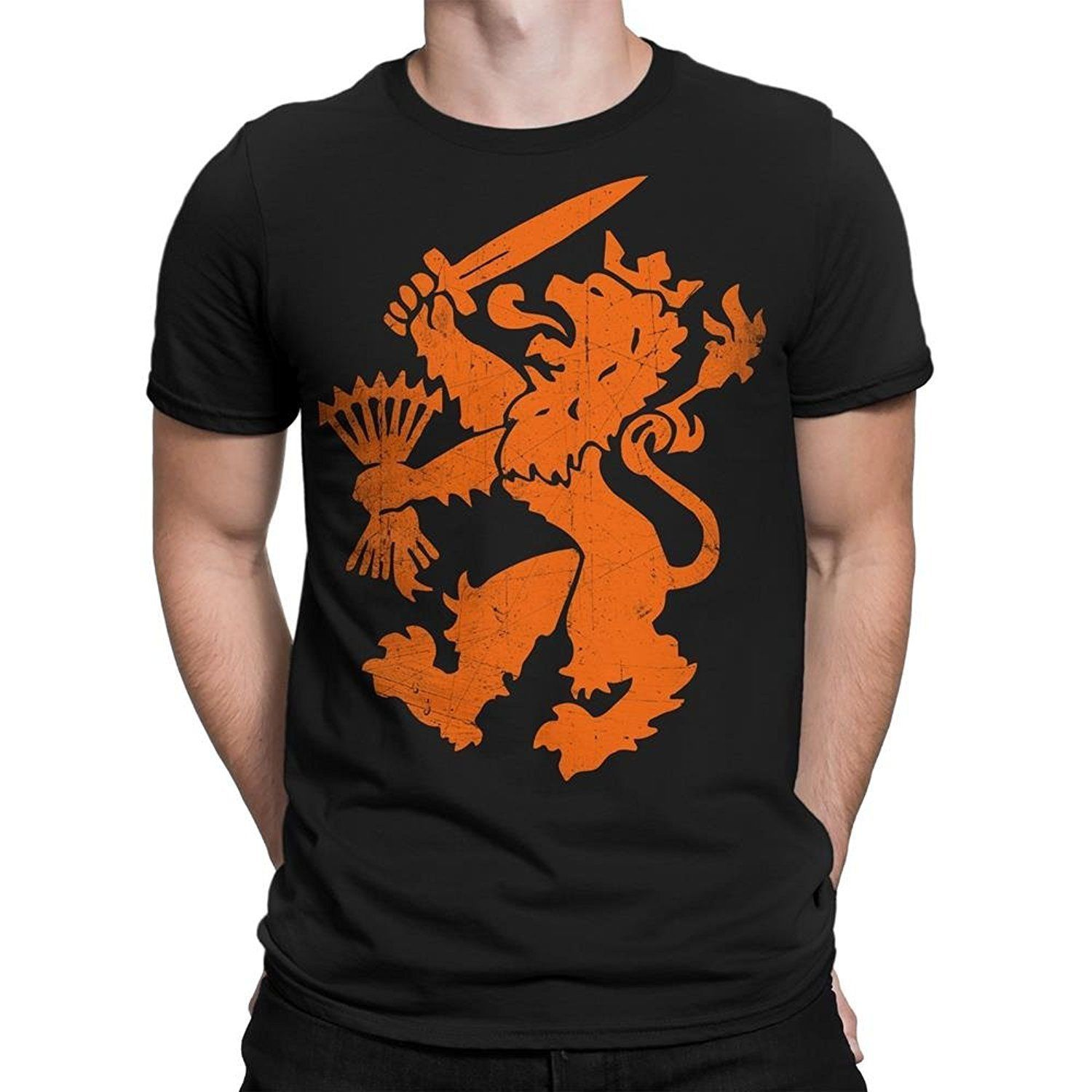 Nyc Factory Netherlands T-Shirt Dutch Oranje Lion Men Tee netherlands-tee-men-b Free shipping Tops Fashion Classic Unique 1