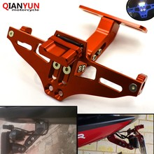 Universal Motorcycle CNC Aluminum License Plate Bracket Licence Plate Holder For BMW F800GT F 800 GT F800 GT F 800GT 2013-2014(China)