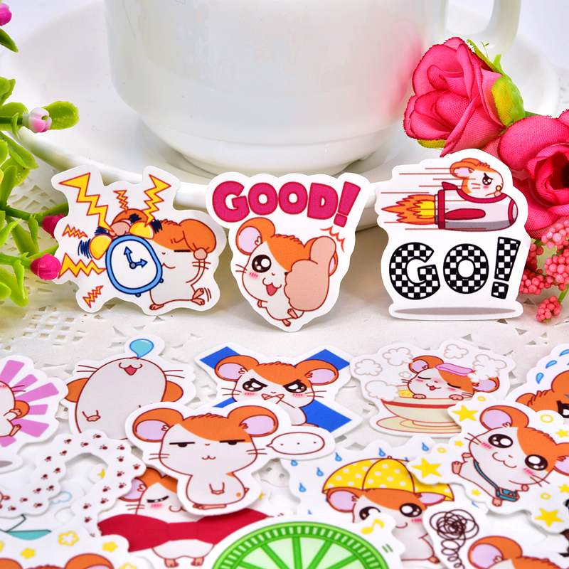 40pcs Creative Cute Self-made  Animal Hamtaro Scrapbooking Stickers /Decorative Sticker /DIY Craft Photo Albums/Waterproof