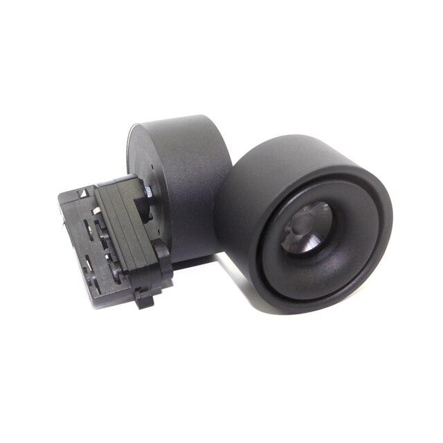 20 stücke 15W 20W 4 Drähte 3 phase Schwarz Weiß Körper LED Track Lampen COB LED Schiene Spot licht AC85 265V LED Track Lichter Kostenloser Versand