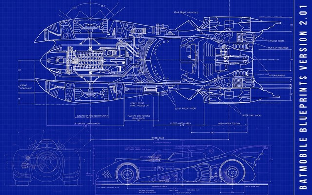 Bat mobile super car blueprints sci fi science fiction retro vintage bat mobile super car blueprints sci fi science fiction retro vintage kraft poster canvas painting malvernweather Gallery
