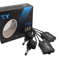2PCS High quality NEW 3000K/4000K/5000K/6000K H3 P6 45W 4500LM LED Conversion Bulb Beam Kit Car Headlight for ZES chip Bulbs