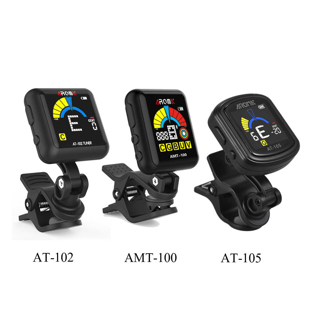 aroma acoustic guitar clip on tuner electronic guitar tuner color screen with built in battery. Black Bedroom Furniture Sets. Home Design Ideas