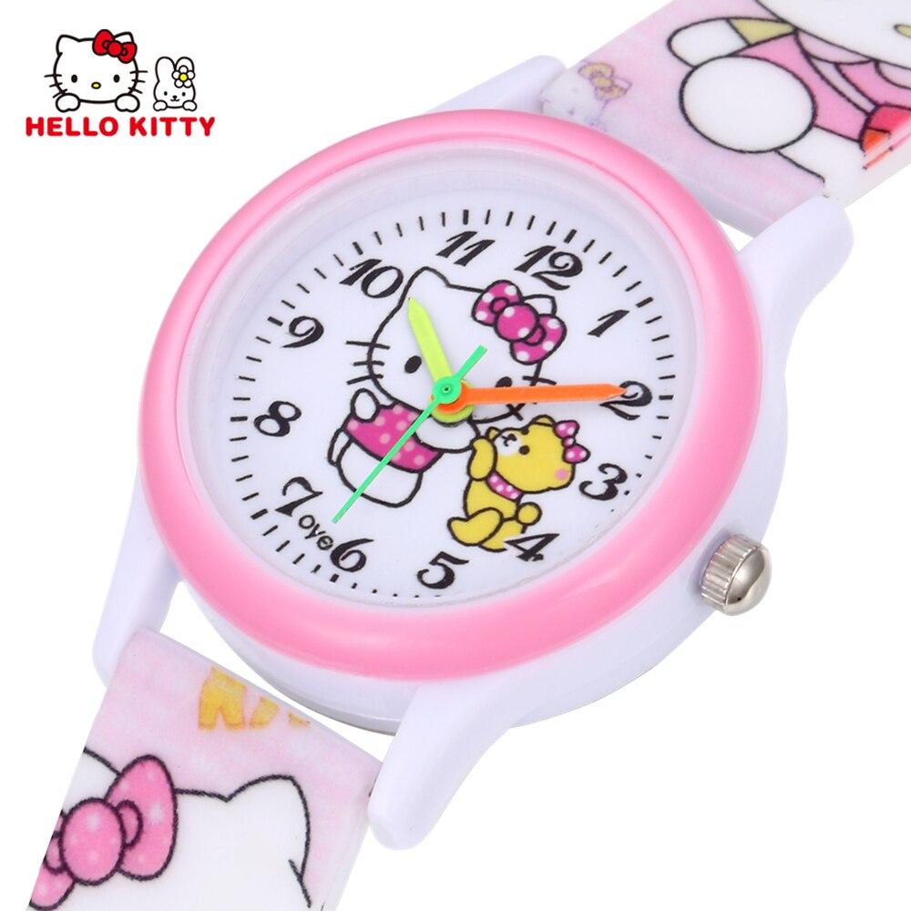 Kids Watches For Girls Children Pink Dress Wrist Watch Cute Cartoon Clock Hot Relogio Relogio Infantil