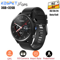Kospet Hope 4G Smartwatch Android 7.1 GPS 3G 32G IP67 Waterproof Phone Watch MTK6739 Quad Core 8Mp Camera Sport Men Watch