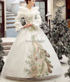 Adulto feminino das mulheres de luxo pavão rainha cosplay neve princesa traje medieval vestido de conto de fadas festa / festival halloween