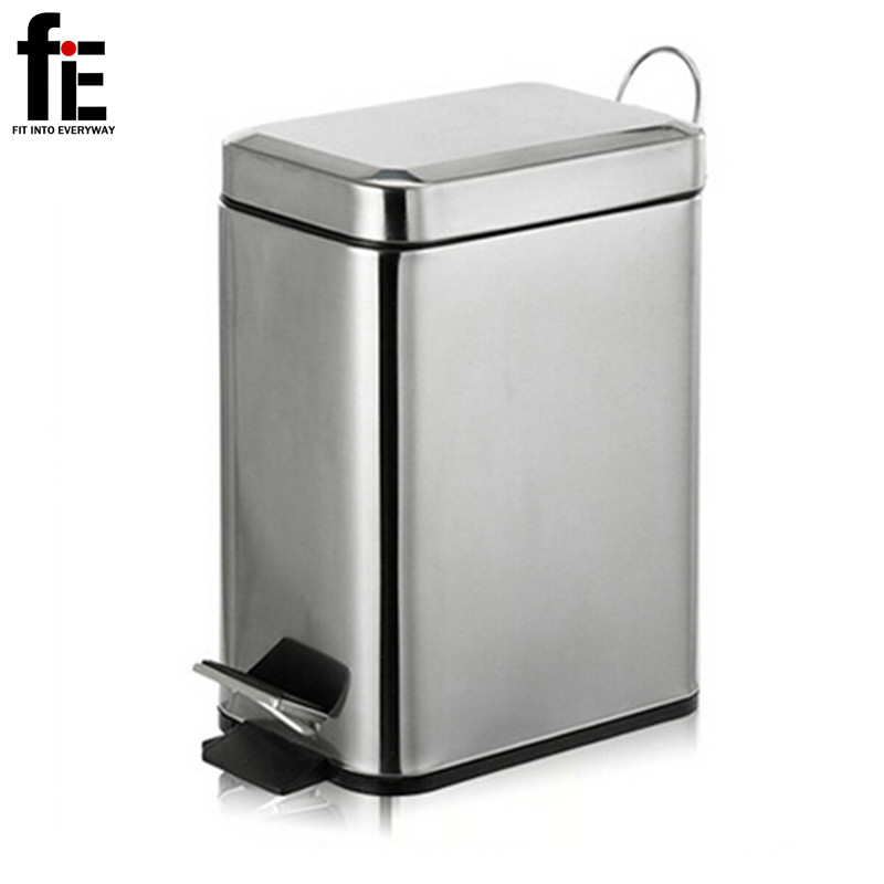 3 5l Mini Stainless Steel Garbage Press Dustbin Small