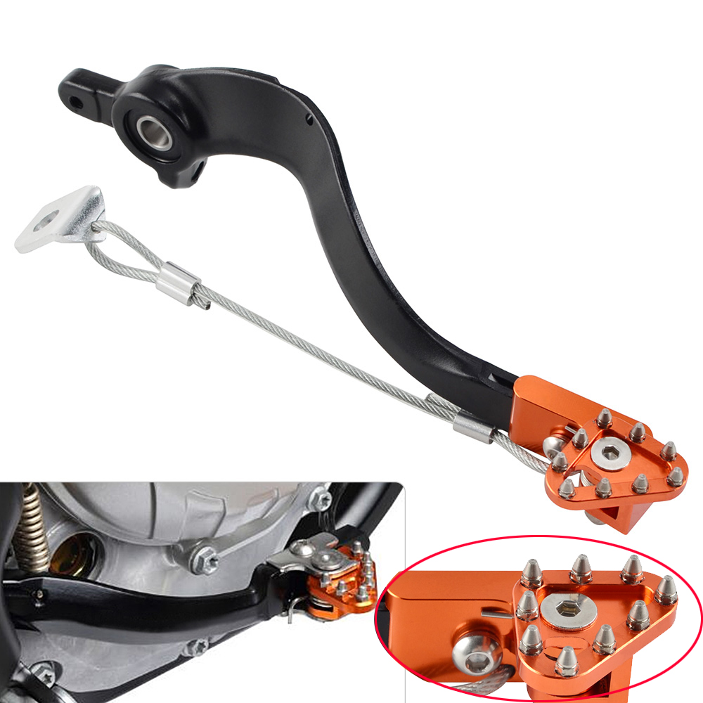 NICECNC Rear Brake Pedal Arm Lever w/ Brake Saver For KTM SX SXF EXC EXCF XC XCF XCW XCFW 125 150 200 250 300 350 450 500 11 16