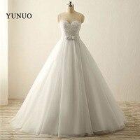 新しいチュール恋人ジッパーウェディングドレスエレガントな花嫁ドレスaラインゴージャスな床の長さ花嫁のウェディングドレ