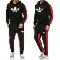 Hot 2019 trend Brand Fashion New Men Sportswear Print Men Hoodies Pullover Hip Hop Mens tracksuit Sweatshirts Clothing suit