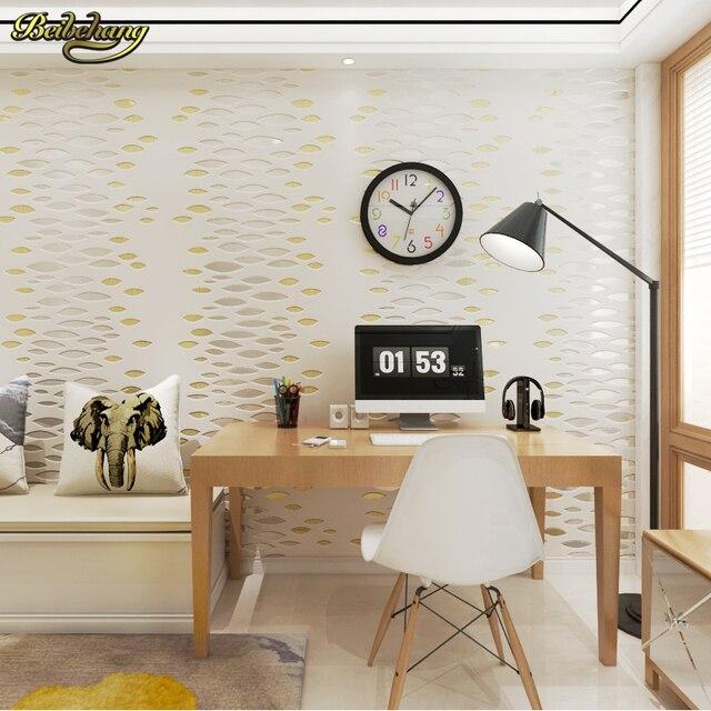 US $31.92 24% di SCONTO|Beibehang Non tessuto tinta unita tre dimensionale  3D camera da letto carta da parati soggiorno divano sfondo della parete ...