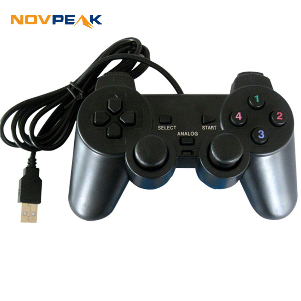 USB Pc Computer Vibration Shock Wired Gamepad Game ...