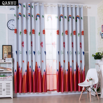 QANHU דרום מזרח אסיה אישית וילון דפוס צרפתית חלון ההאפלה Babyroom וילונות וילון סט TCY 7|וילונות|בית וגן -