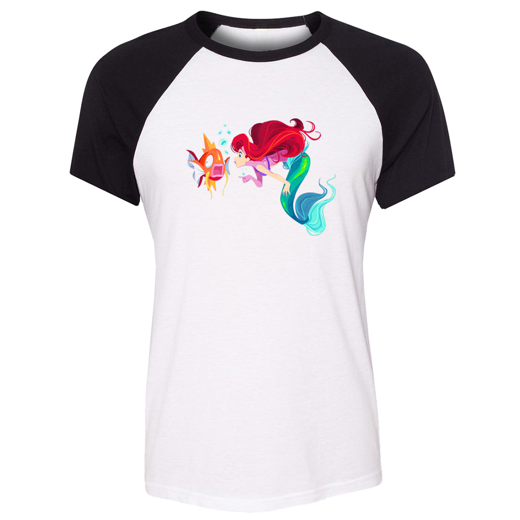 cotton-t-shirts-women-short-sleeves-little-mermaid-ariel-and-font-b-pokemon-b-font-magikarp-part-of-your-world-design-top-tees-casual-t-shirt