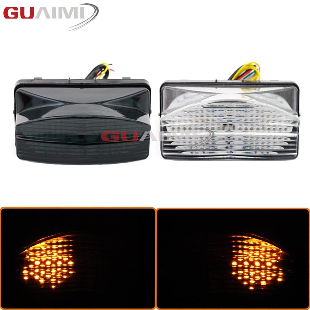 Motorcycle LED Bulb Tail Light Assembly Moto Brake Turn Signal Flasher Accessories For Honda CBR 600 F4i 2001 - 2003 CBR600F4i