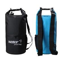 10L 20L Outdoor River trekking bag Dry Bag Double shoulder straps Water Pack Swimming Backpack Waterproof Bags Drifting Kayaking