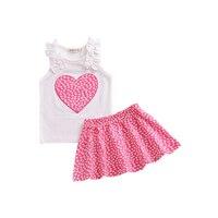 CieiK Baby Girl Clothes Love Heart Top + Skirt Newborn Summer Clothing Shirt Set Soft Children Dress Infantil Toddler Outfits