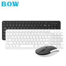B.O.W Pc keyboard(PC keybaordand Mouse Combo)-2.4GHz Keyboard and Mouse for Desktop Pc,Safe 2.4GHz Connectivity
