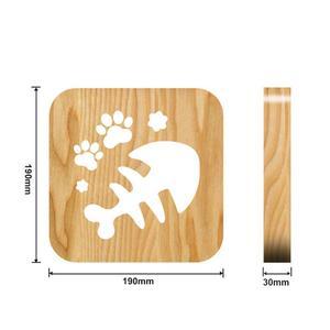 Image 5 - 木製犬足猫動物の夜の光フレンチブルドッグluminaria 3Dランプusb電源デスクライトクリスマスのため新新年のギフト