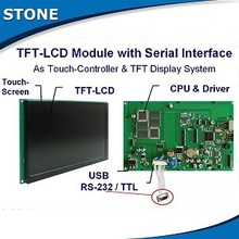 industrial touch screen display 7 inches with serial interface and cpu