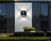 Outdoor Waterproof Wall Lamp Modern Minimalist Round Ball Cross LED Wall Lamp 8w Hot Home Lighting Aluminum Wall Lamp