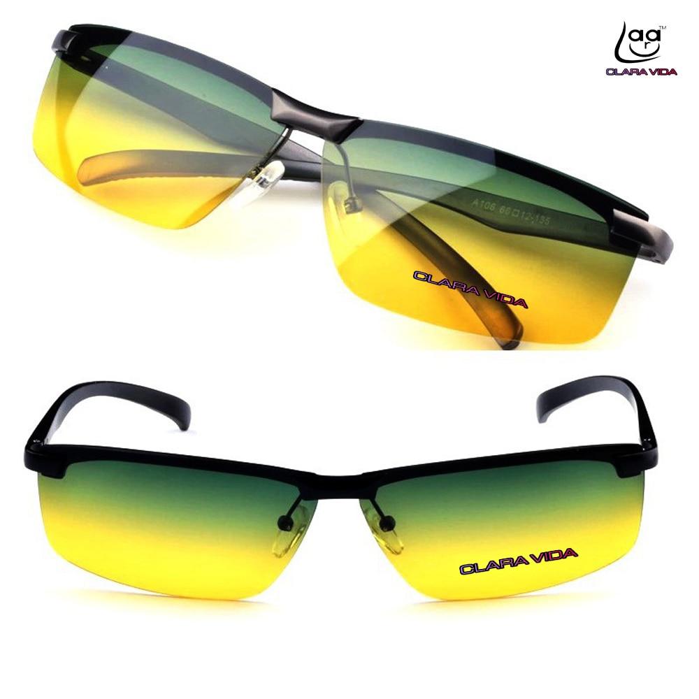 92798c60a3f48 Dia e noite visão clara vida multifuncional liga de alumínio-magnésio  polarizada uv400 uv100 % dos homens óculos de sol