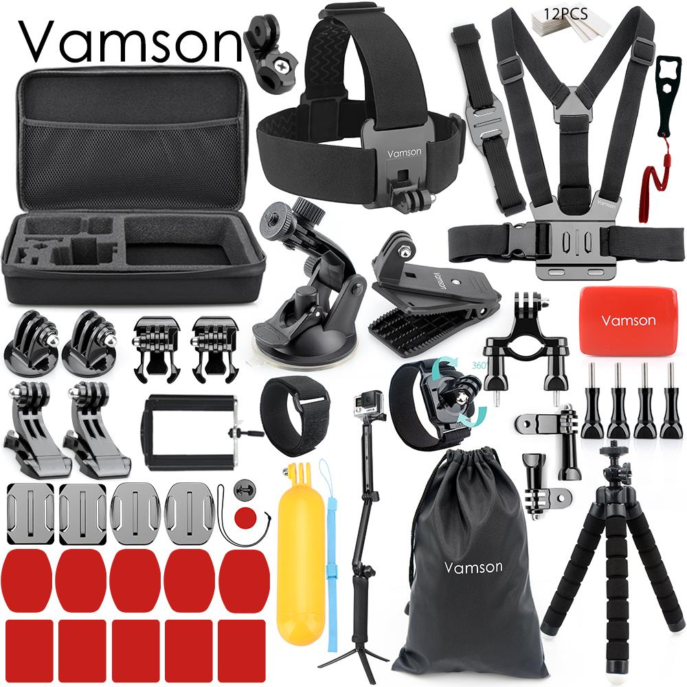 Vamson Accessories for Gopro Hero 7 6 5 4 Set Kit Wrist Strap Adapter Mount Floaty Bobber for Xiaomi for Yi 4K Camera VS163|Sports Camcorder Cases| |  - title=