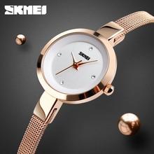 цена на SKMEI Luxury Quartz 1390 Women Watches Fashion Casual Mesh Stainless Steel Bracelet Watch Relogio Feminino Relojes Para Mujer