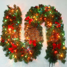 270cm Dense Christmas Ratta With Colorful Light Ornament High Quality articulos de navidad