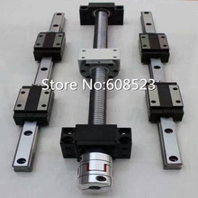 CNC seti 4 adet ballscrew sfu1605/sfu1610-400/700/1000/1000mm + 12 HBH20CA Kare Lineer kılavuz setleri + bk12 bf12 + 4 adet mil Çoğaltıcı