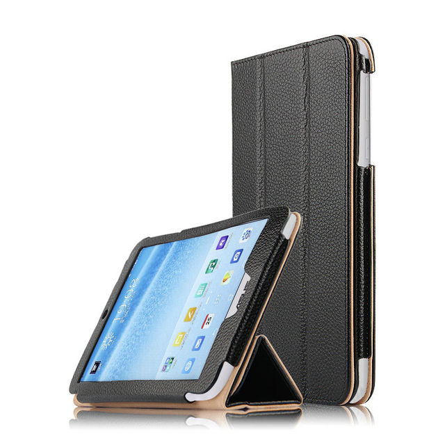 competitive price 5cd36 caac0 US $22.09 5% OFF|Case Cowhide For ASUS MeMo Pad 8 Protective Smart cover  Genuine Leather Tablet For asus me181C me8110c K011 8