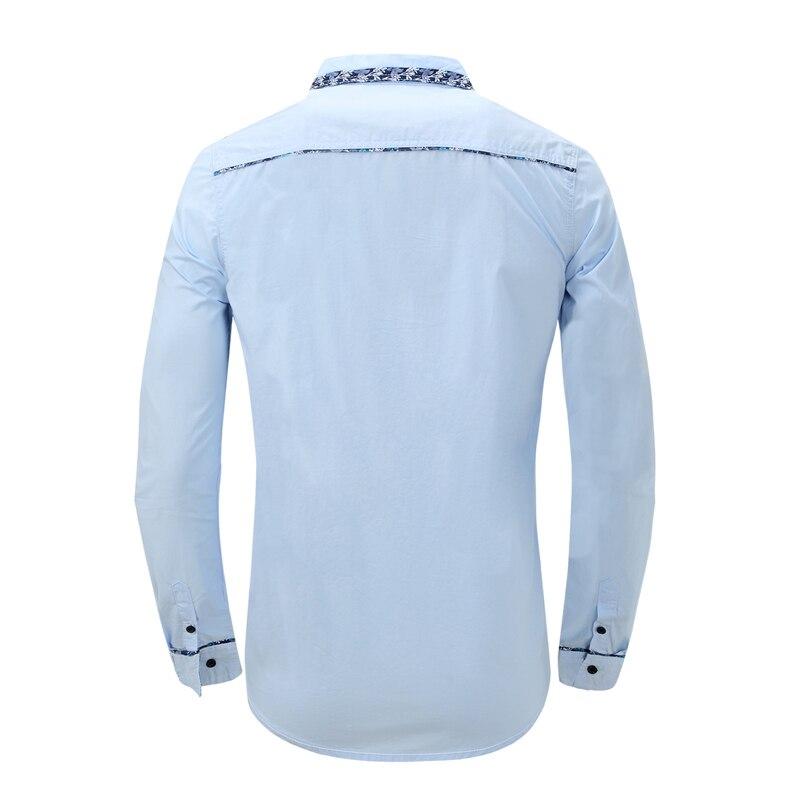 Men Cotton Shirts White Camisa Masculina Long Sleeve Chemise Homme Man Blusas Casual Camisetas Men Dress Shirts 2018 Hot Sale