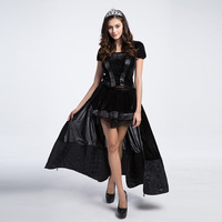 Halloween Witch Black princess costumes dress Vampire Costumes Cosplay fancy adult sexy Long Dress for Woman