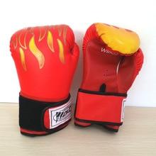 цена на JUFIT Flame Boxing Gloves Training Muay Thai Gloves Boxer Fight MMA Boxing Equipment Men/Women Full Finger