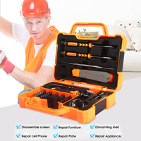 Newest JAKEMY JM 8139 45 In 1 Multi Bit Screwdriver Kit With Spudger Tweezers For Tablets