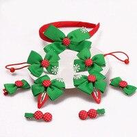 9 יח'\סט מבהיקי רצועת כלים קשתות עם סיכות לשיער חג מולד פתית שלג ילדי להקות שיער קשת זעירה אביזרי שיער לתינוקות בנות