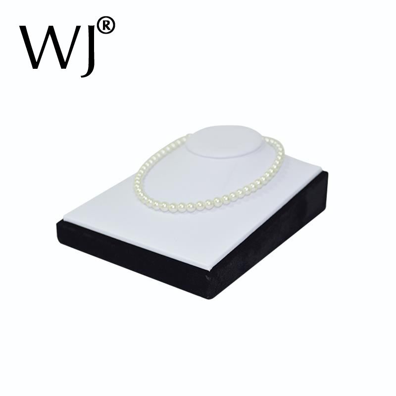 White Faux Leather Mannequin Jewelry Necklace Display Bust Pendant Presentation Holder Stand Neck Form Model Horizontal Showcase new 2pcs female right left vivid foot mannequin jewerly display model art sketch