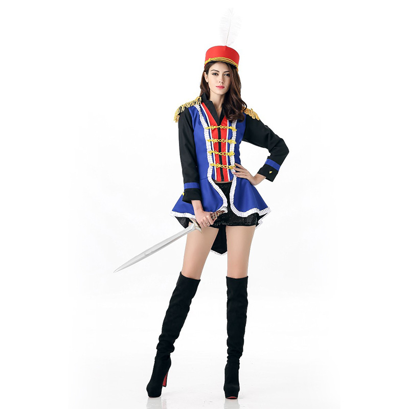 fashion costume adult women soldier heroine fancy dress party halloween costume cosplaychina - Soldier Girl Halloween Costume