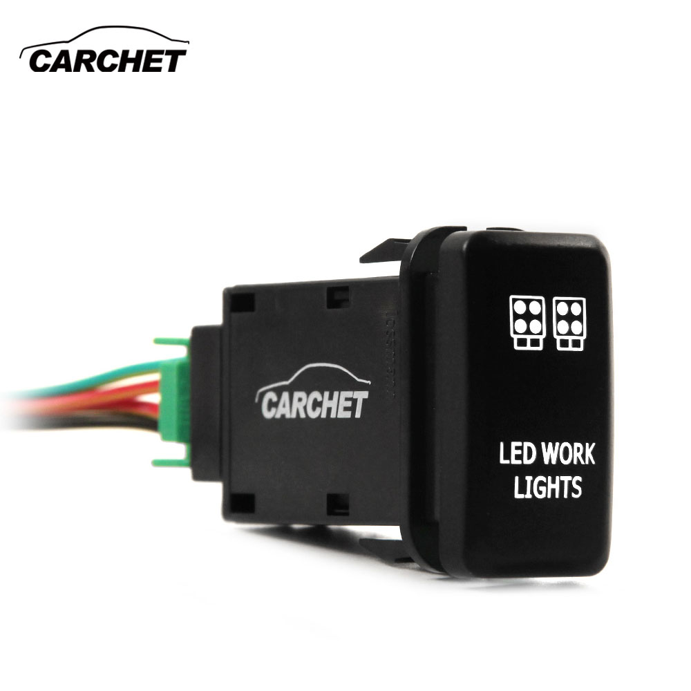 CARCHET Led-arbeitsscheinwerfer Schalter für Toyota LED ...