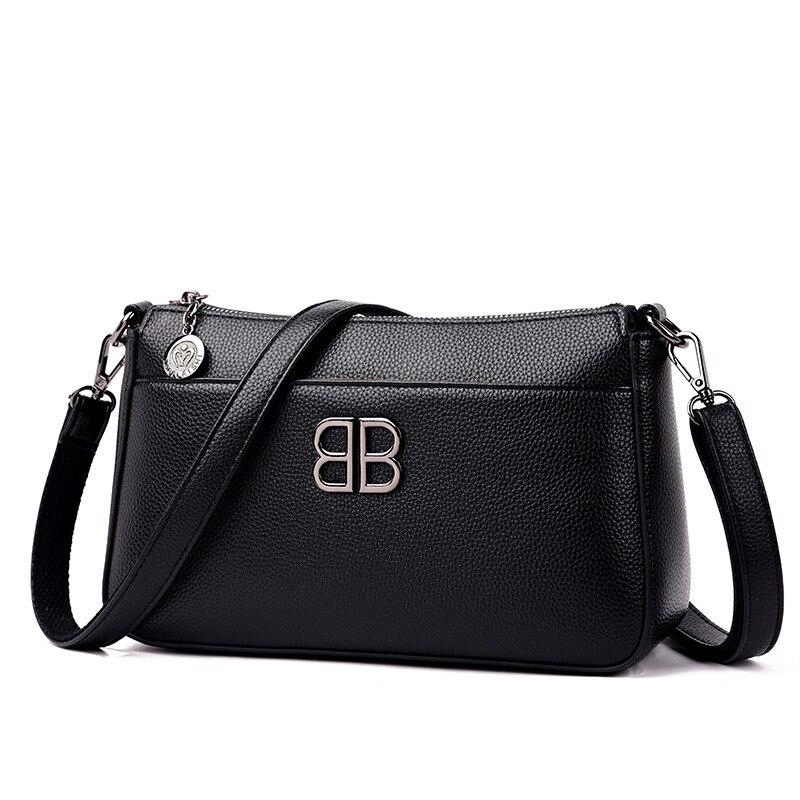 Image 5 - Женская сумка через плечо, из мягкой кожи, маленькая, 2019Сумки с ручками   -