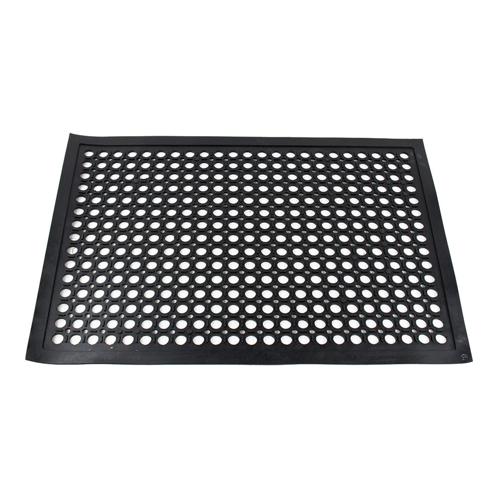 Rubber floor mats standing - 1pc Rubber Floor Mat Industrial Entrance Flooring Heavy Duty Anti Fatigue Non Slip Black 610