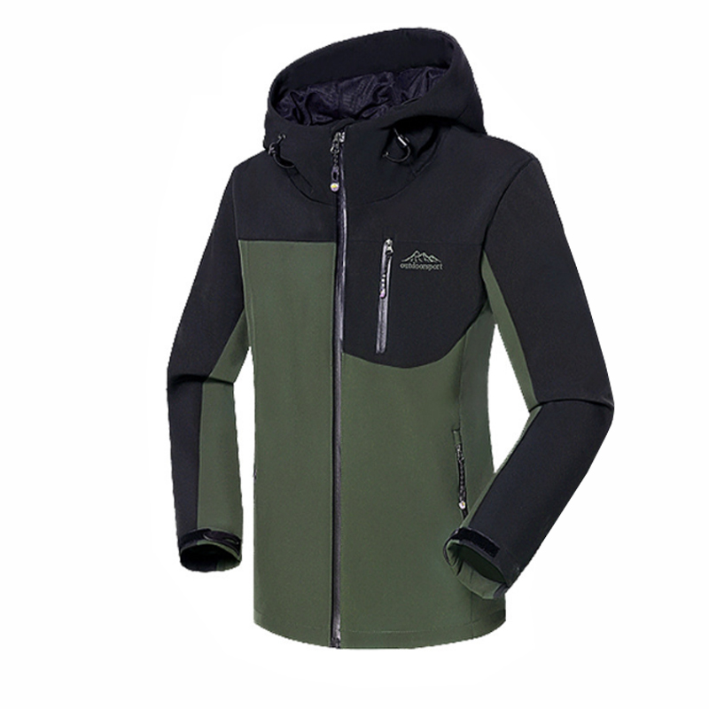 Direnjie Кемпинг Альпинизм лыжи Горный Рыбалка водонепроницаемый Windstopper Велоспорт Softshell флис теплый открытый Для мужчин куртка