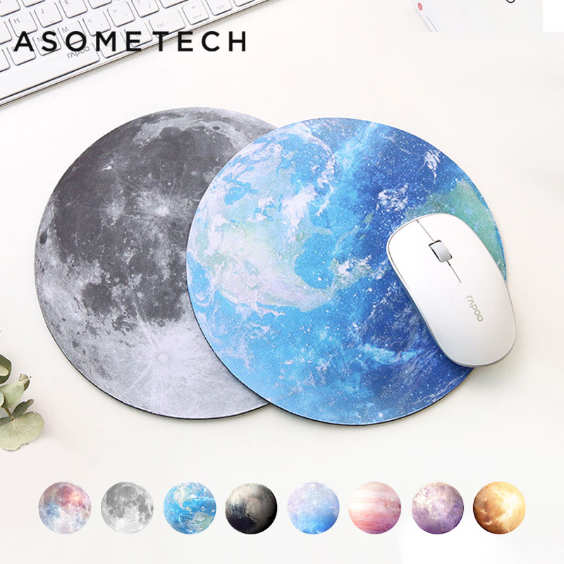 Planet Series PC Mat Round Gaming Mouse Pad New Style Earth/Venus/Rainbow moon/Black moon/Mars/Mercury/Jupiter/Pluto Mousepads