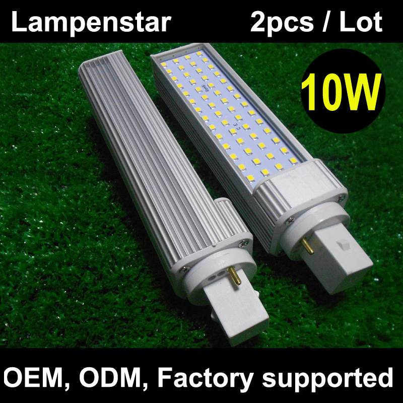 4pcs/lot G24 SMD 2835 LED 10W Light Bulb 2 Pin bombilla pl(Replace CFL Lamp) AC85-265V 110V 220V Warm White/ White/ Cool white