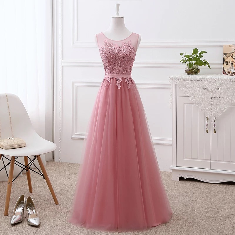 Mother of the Bride Dresses A line Tulle Lace Long Formal Elegant Cheap Mother Dress 2019