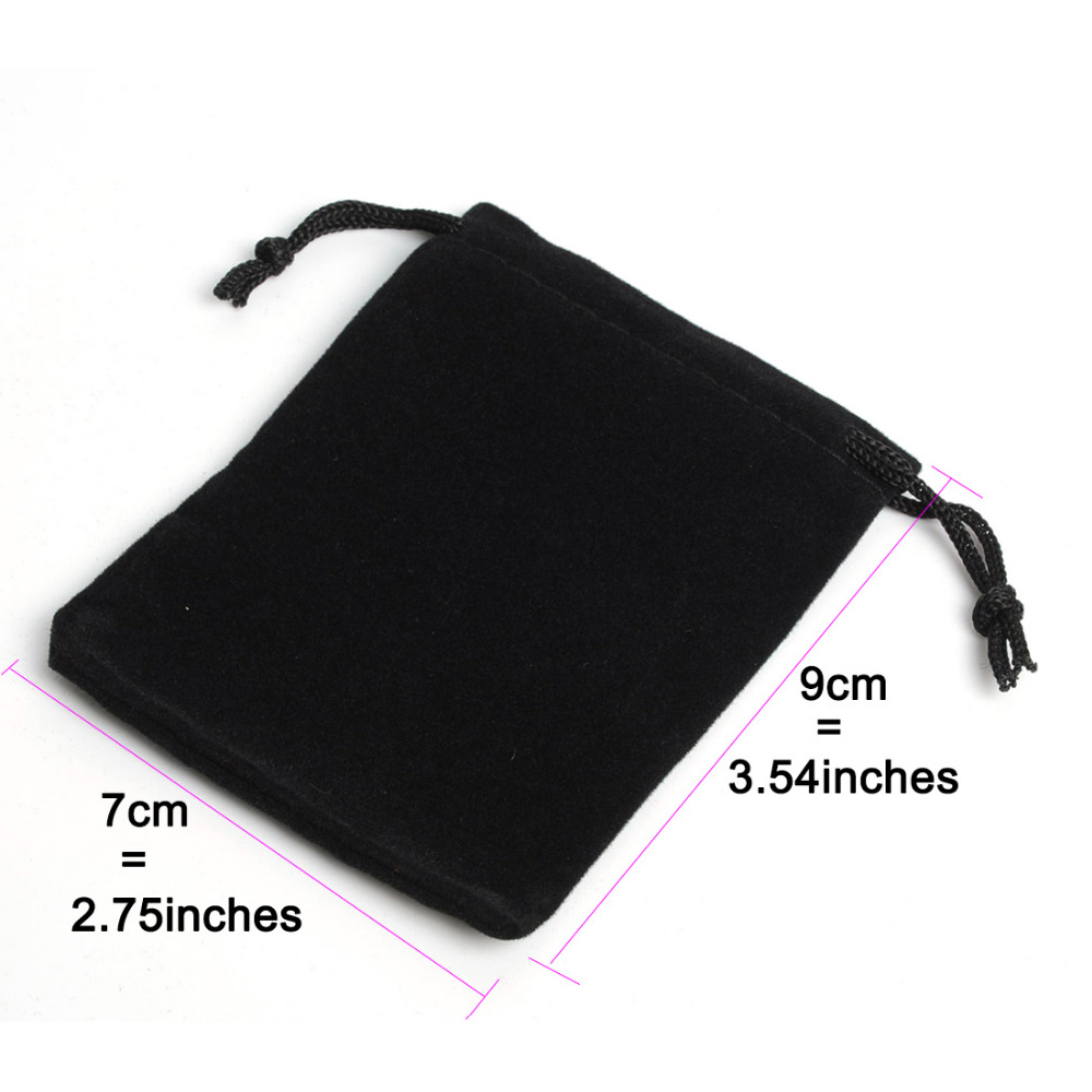 25Pcs 7x9cm 2.75x3.54inch Velvet Drawstring Pouch Bag/Jewelry Bag,Candy Party Holiday New Year Christmas/Wedding Gift Pouch Bag
