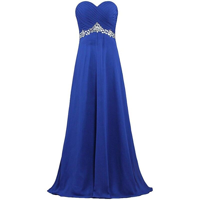 Royal Blue violet Robe De Soire longues robes De soirée formelles robes De soirée chérie plis en mousseline De soie à lacets retour Robe De Festa